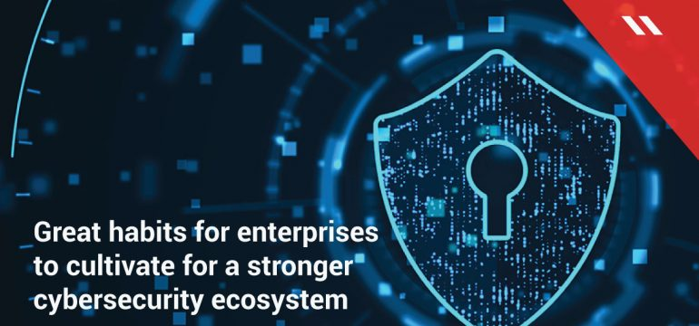 Great habits for enterprises to cultivate for a stronger cybersecurity ecosystem