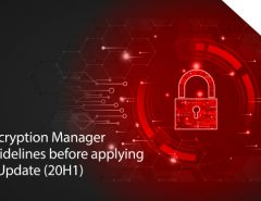 Seqrite Encryption Manager update guidelines before applying Windows Update (20H1)