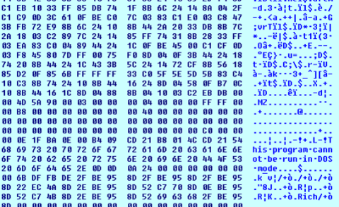 Fig 9: Decrypted shellcode and PE File