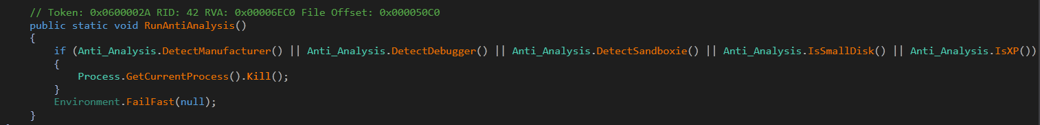 Fig.5 Anti-analysis code in .Net payload