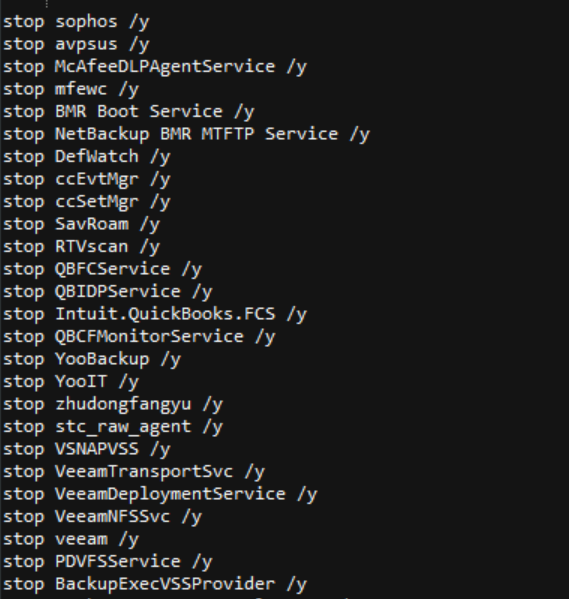 Fig.6 Tries to stop different services