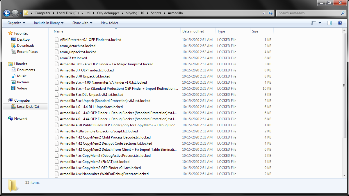 Fig.7 Encrypted files