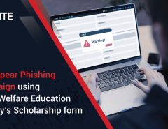 New Spear Phishing Campaign using Army Welfare Education Society's Scholarship Form