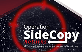 Operation SideCopy Returns: Targeting Critical Indian Infrastructure